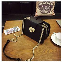 $enCountryForm.capitalKeyWord Australia - 2019 Spring New Fashion Women Shoulder Bag Chain Strap Flap Designer Handbags Clutch Bag Ladies Messenger Bags With Metal Buckle