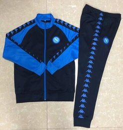 men football tracksuit Australia - 19 20 napoli soccer tracksuit jacket 2019 2020 men Naples zipper jacket MERTENS INSIGNE H.LOZANO football training suit