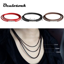 $enCountryForm.capitalKeyWord Australia - 1mm 1.5mm 2mm 3mm Necklace Cord Leather Cord Wax Rope Lace Chain With Rotary Buckle For Diy Necklace Bracelet Jewelry Finding