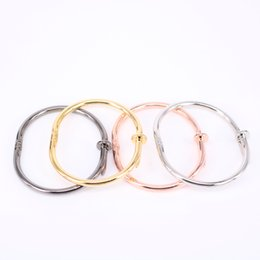 Wholesale Nail Cuff Bangles Copper Bracelets for Women Gold Pulsera Jewelry Stainless Steel Screw Bracelet Pulseiras Femininas