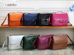 $enCountryForm.capitalKeyWord NZ - NEW styles Fashion High quality crocodile grain Bags Ladies designer handbags bags women tote bag bags Single shoulder Cross bag 8 color