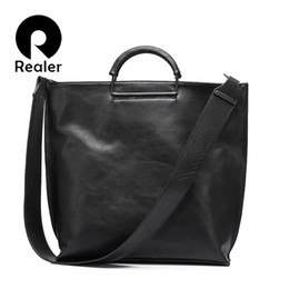 $enCountryForm.capitalKeyWord Australia - REALER women handbag extra large tote bag female big shoulder bag wide strap crossbody messenger bags ladies clutch Y190619