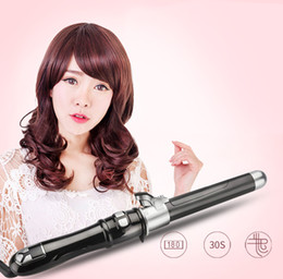 Electric Hair Rollers Wand Australia - Professional auto rotary electric hair curler hairstyle curling iron wand waving automatic rotating roller wave curl hairstyling