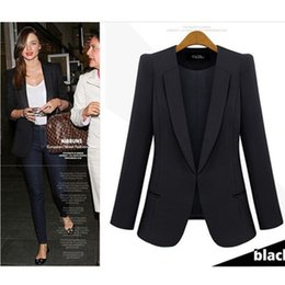 Blazers for women color Blue online shopping - 2019 New Spring Autumn Women Coat Jacket Thin Small Suit Jacket Big Size Black blue Slim Casual Blazer for female