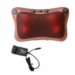 Home Office Electronics NZ - Professional Double Keys 4 Heads Magnetic Therapy Electronic Neck Massager Car Home Office Massage Pillow Cushion Hot New