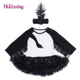 designs baby party gowns Australia - 2018 New Design Long Sleeve Tassel Black Swan Lace Dress Costume Trolls For Baby Girls Clothes Carnival Party Fashion Gift Y19061001