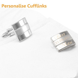 $enCountryForm.capitalKeyWord Australia - SAVOYSHI Men's Shirts Cufflinks Silver Square Free Custom Name Cuff links Personalized Laser Engraved LOGO Special Gift Jewelry