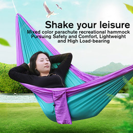 $enCountryForm.capitalKeyWord NZ - Outdoor Hanging Bed Mixed Colour Parachute Cloth Outdoor Camping Beach Small Portable Double Hanging Bed Customization
