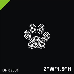 Discount paw rhinestone transfers Free shipping ot Bear's paw print design hot fix rhinestone Heat transfer design iron on motifs Scrapbooking diy ac
