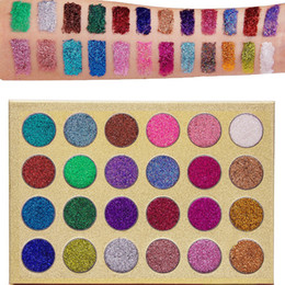 veronni eyeshadow NZ - Brand VERONNI Professional Beauty Cosmetics Easy To Wear Glitter Eye Shadow Palette 24 Colors Makeup Glitter Eyeshadow Palettes