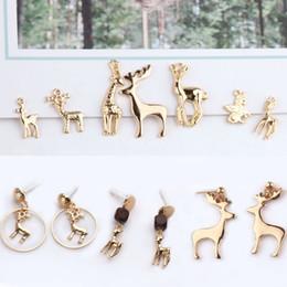 Unicorn charms online shopping - 10pcs Gold Metal Geometric Elk Unicorn Charm Animal Pendant Fit DIY Bracelet Earring Jewelry Accessory Christmas Gifts