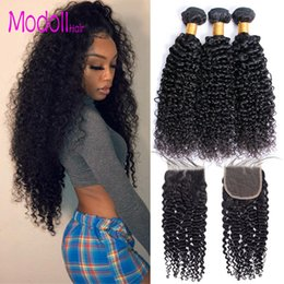 $enCountryForm.capitalKeyWord Australia - Malaysian Curly Human Hair With Closure 3 4 Bundles With Closure Malaysian Virgin Hair Bundles With Closure Natural Color Dhgate Remy Hair