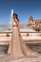 $enCountryForm.capitalKeyWord Australia - New dress sexy V-neck sling dress long skirt multi-layer light yarn chiffon sequins nightclub party Luxury Designer catwalk wedding Dress