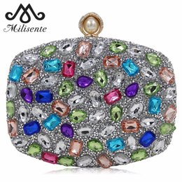 $enCountryForm.capitalKeyWord Australia - Milisente Women Crystal Rhinestones Unique Pearl Hasp Design Messenger Bag Lady Luxury Handbags Bridal Wedding Party Clutch Y190626