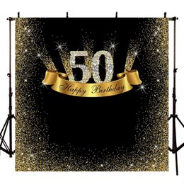 $enCountryForm.capitalKeyWord NZ - Background for Luxury Photo Studio 50th Birthday Golden Diamond Party Backdrop Photo Shoot Dessert Table Decoration PhotoshootLV