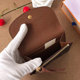 Wholesale designer card holder short wallet Fashion high quality original box coin purse women designer wallet classic business card holder on Sale