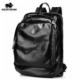 $enCountryForm.capitalKeyWord Australia - mens fashion Bison Denim Soft Genuine Leather 17 inches Large Men Travel Laptop School Backpack Male Fashion N2378