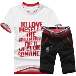 $enCountryForm.capitalKeyWord Australia - Summer Men Sportswear Sets Tracksuit Male Outwear Sweatshirts Patchwork Men Hoodies Gym Clothing Sport Suit Running Set XL-4XL