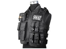 tactical vest airsoft paintball 2019 - SWAT Vest Military Tactical Airsoft Paintball CQB Shooting Combat SWAT MOLLE Vest Black BD2877 #290009 cheap tactical ve