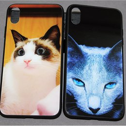 $enCountryForm.capitalKeyWord NZ - Cute Pet Glass Tempered Phone Case Cats for iphone xsmax Xr X XS 6 7 8 plus Samsung note9 s9 s10 plus s10lite
