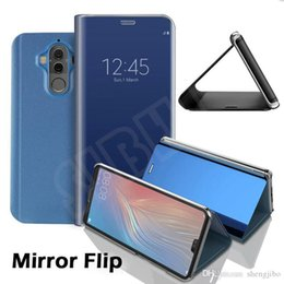 Samsung S6 Edge Mirror Case Australia - Flip Stand Phone case For Samsung Galaxy S8 S9 Plus S6 S7 Edge Note 8 5 A3 A5 A7 A8 2017 2018 case Smart Clear Mirror View Cases from Reliab