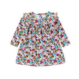 $enCountryForm.capitalKeyWord UK - Multicolor Floral Kid Designer Clothes Girls Pleated Long Sleeve Dress Princess Skirt With Buttom Back Up Design Shift Skirt
