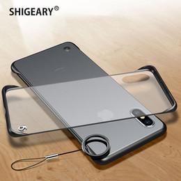 $enCountryForm.capitalKeyWord Australia - For iPhone X XS Max XR 6 6S 7 8 Plus Case Cover Frameless Finger Ring Holder Bumper Back Cover