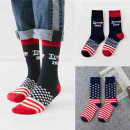 $enCountryForm.capitalKeyWord Australia - US Trump 2020 Sports sock 4 styles trump USA Flags Pattern Lovers stocking Fashion Hose Fit Men Woman AJY679