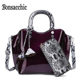 $enCountryForm.capitalKeyWord Australia - 2pcs Women's Lacquer Bag Patent Leather Handbag for Girls Summer Small Ladies Handbag Varnish Designer Hand Bag for Women 2019