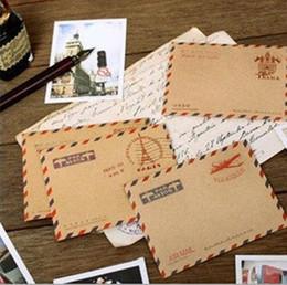 $enCountryForm.capitalKeyWord Australia - 2019 New hot sale Small Letter envelope - Retro Vintage colored air mail letter envelope paper envelope for post cards