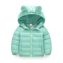 women rubber clothing UK - New Style Autumn And Winter Children Lightweight down Feather Cotton-padded Clothes Children Short Coat Infants Men And Women Ba