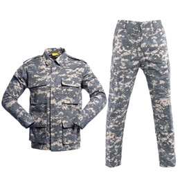 army combat uniform 2020 - 10color Men Militar Uniform Army Tactical Soldier Outdoor Combat Camouflage Special hunting Clothes Pant Maxi disfraz ch