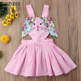 6d4a72749fdc Summer Rabbit Floral Dress For Baby Girl Costume Bunny Kid Bow Beach  Sundress Children Costume Clothing