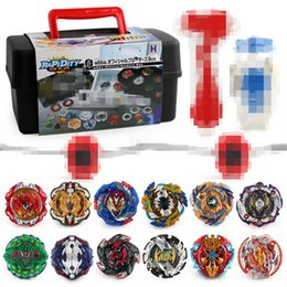 $enCountryForm.capitalKeyWord Australia - Plastic Beyblades Burst Metal Fusion Gyro Bey Blade New Spinning Top Toys Spiner Metal Fusion Bayblade Launcher 12Pcs Sets Best Seller