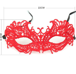 $enCountryForm.capitalKeyWord UK - Lace Masks Sexy Women Lace Eye Mask Dance Party Mask Halloween Masquerade Lace Party Girls Party Supplies Red Black Costume Mask