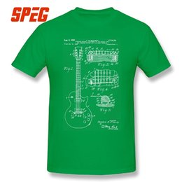silver electric guitars 2019 - Mens luxury brand designer t shirts Casual T Shirt Patent Acoustic Electric Guitar Structure Music Men Short Sleeve T-Sh