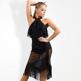 $enCountryForm.capitalKeyWord Australia - 2019 New Latin Dance Dress Female Adult Elasticity Mesh Tassel Jumpsuit For Women'S Ballroom Samba Dance Practice Clothes DL4026