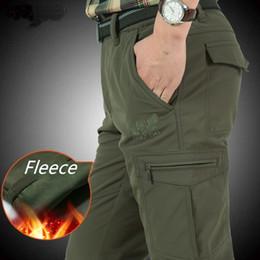 Warm Waterproof Pants Men Australia - Nianjeep Fleece Thick Winter Pants Men Windproof Warm Waterproof Trousers Casual Pants Men Military Army Cargo Pants Male 4xl Y190518