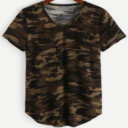 Ladies Camouflage Tops Australia - Zuolunouba Casual Summer Tops Female Short Sleeve Women T Shirt Army Green Camouflage Harajuku O-neck Cotton Tees Lady
