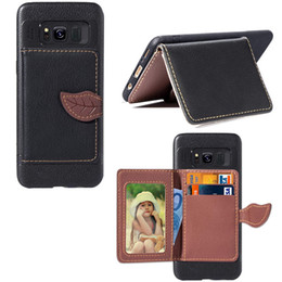 Red Light Card Australia - Wallet Cover for Samsung Galaxy S8 Light Weight Phone Stand Leaf Shape Clip with Card Slot Money Pocket 97 Models for Option
