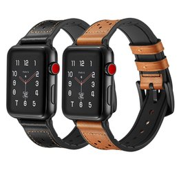 Band Belts UK - Luxury Business Casual Style Official Genuine Leather Band Watch Strap Belt Bracelet for 38 42mm 40 44mm Apple Watch Series 4