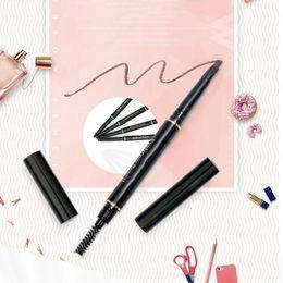 Pencil Cosmetics Australia - 1 PC Eyebrow Pencil Double Head With Eyebrow Brush Natural Long-Lasting Waterproof Pen Charm Makeup Cosmetics Dropship