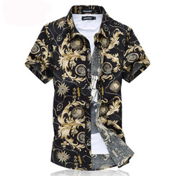 3d502567 2019 free shipping Style Shirt Men Short Sleeve 6XL Plus Size medusa Shirt  Camisa Marcas Beach Wear Man Clothing Floral Shirt For Male 2016