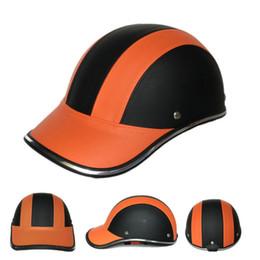 $enCountryForm.capitalKeyWord Australia - Leather Motorcycle Half Face Helmet Baseball Cap for Bike Motorbike Electric Car F-Best