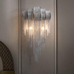 beauty salon lamps Canada - Luxury Tassel Wall Light Beauty Salon Living Room Decoration Wall Lamp Staircase Corridor Aisle led Lamp Nordic Bedroom Bedside Vanity Light