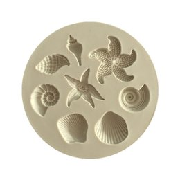Sea Shell StarfiSh online shopping - Starfish Cake Mould Ocean Biological Conch Sea Shells Chocolate Cake Silicone Mold DIY Chocolate Mold Kitchen Liquid Cake Tools