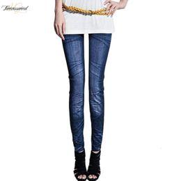 Rip leggings online shopping - Jeans Fashion Women Leggings Slim Washed Ripped Jeans Jeggings Fitness Skinny Pencil Pants Calca For Ripped Jeans Feminina Women