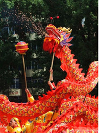 Green draGon mascot online shopping - Summer Party flower size m player silk frabic dragon dance adult mascot costume china special culture holiday party
