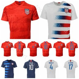1ee4c5104 2019 2020 USA Soccer Jersey Men American 2 YEDLIN 4 BRADLEY 9 ZARDES 10  PULISIC 3 GONZALEZ 7 ARRIOLA Football Shirt kits Uniform