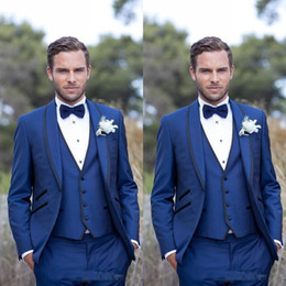 $enCountryForm.capitalKeyWord Canada - Royal Blue Slim Fit Men Suits One Button Groom Tuxedos Mens Wedding Suits Groomsmen Suits Mens 3 Pieces Suit (Jacket+Pants+Vest)
